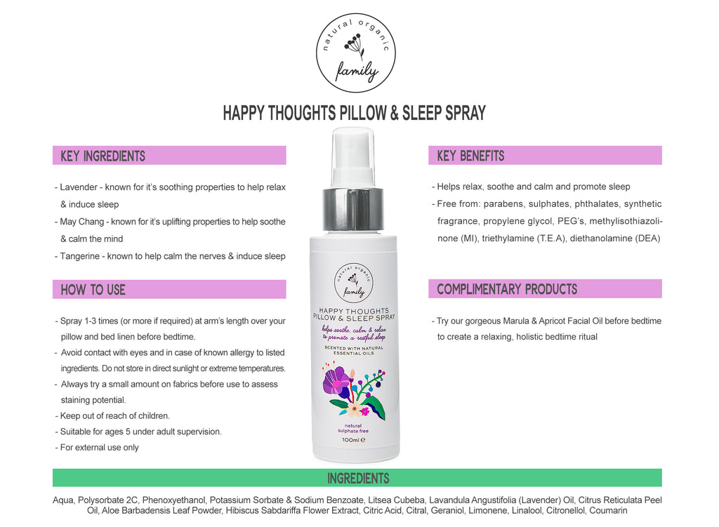 Happy Thoughts Pillow & Sleep Spray