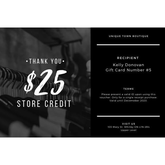 Unique Town Boutique Gift Card