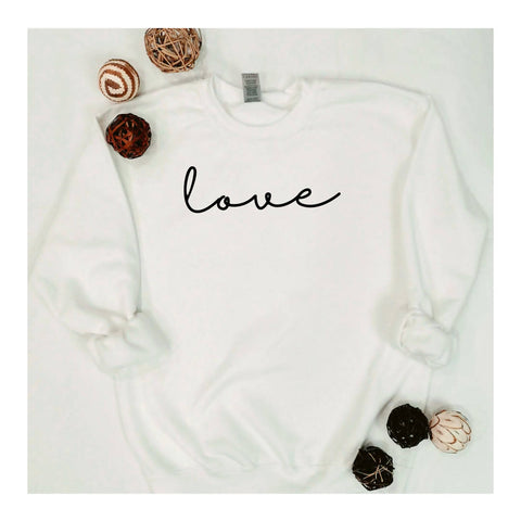 """Love"" Crewneck Sweatshirt"
