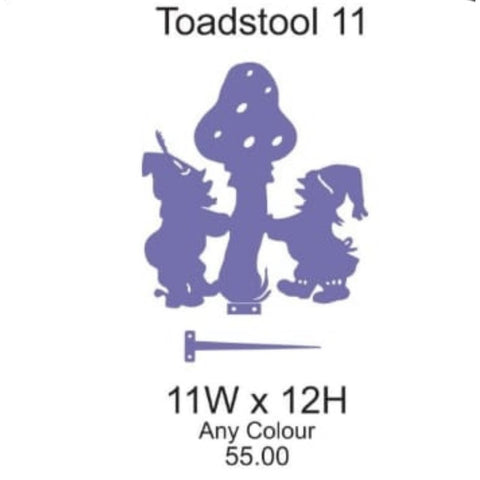 Toadstool 11 Lawn Sign