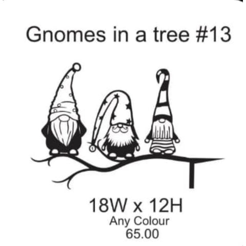 Gnomes in a Tree Lawn Sign