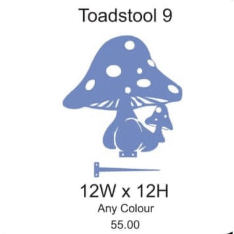 Toadstool 9 Lawn Sign