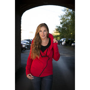 Red Slant Sweater