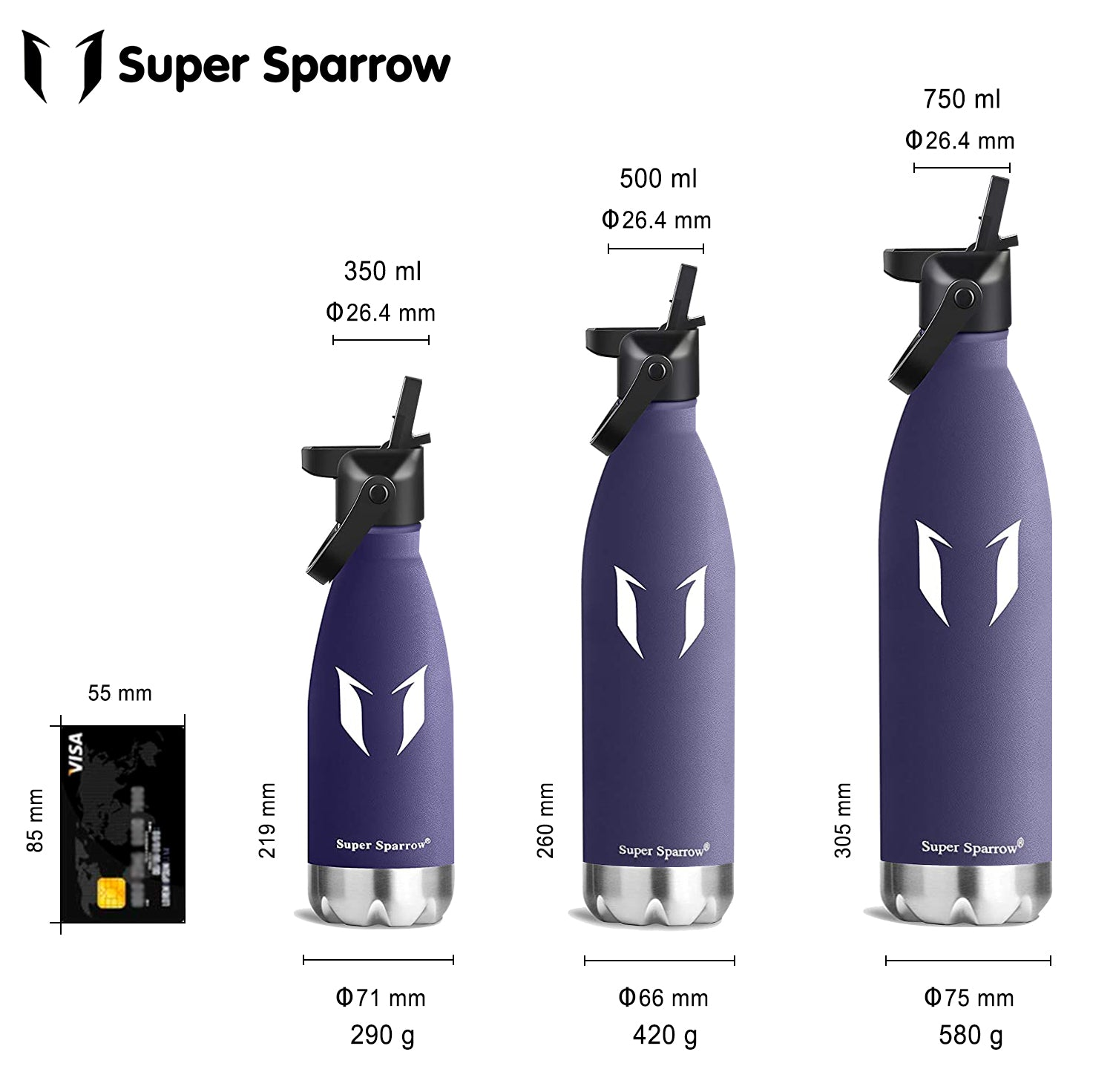 Vacuum Insulated Water Bottles 500ML/750ML (Only for Sweatcoin US Users)
