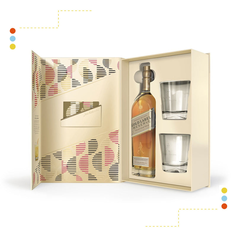 Johnnie Walker Gold Rigid + 2 Vasos 6750ml