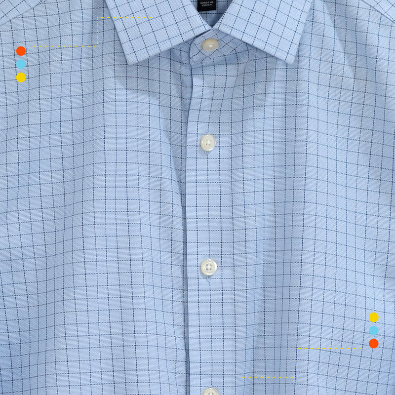 Camisa Saturated Windowpane Medium Blue