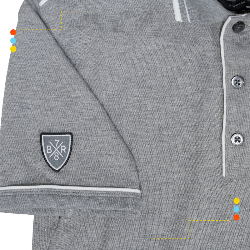 Chomba Pique Heather Grey