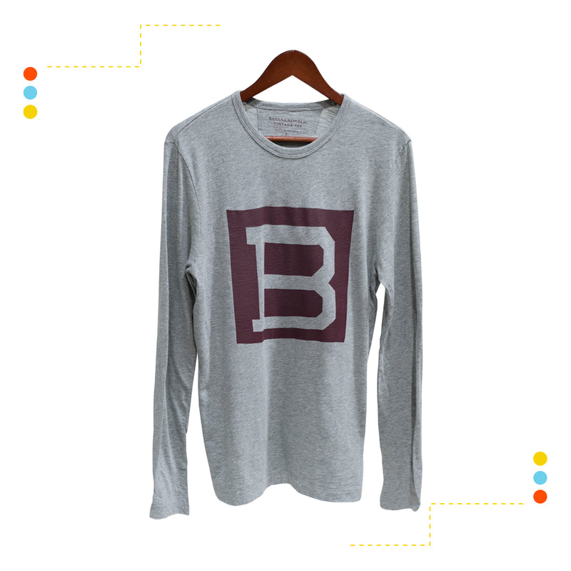 Remera Manga Larga Light Grey