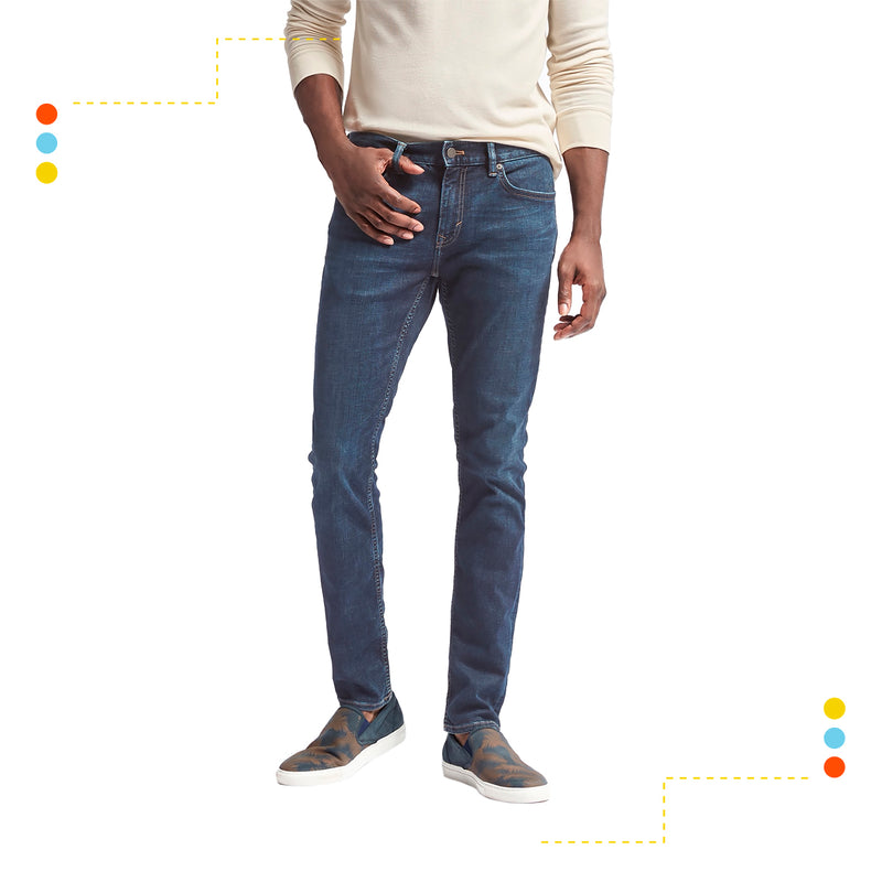 Jean Skinny Fit Rapid Movement Bolt Wash Indigo