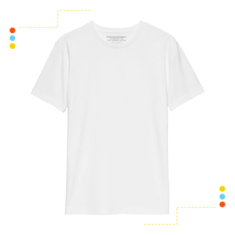 Remera Básica Manga Corta Crew Optic White