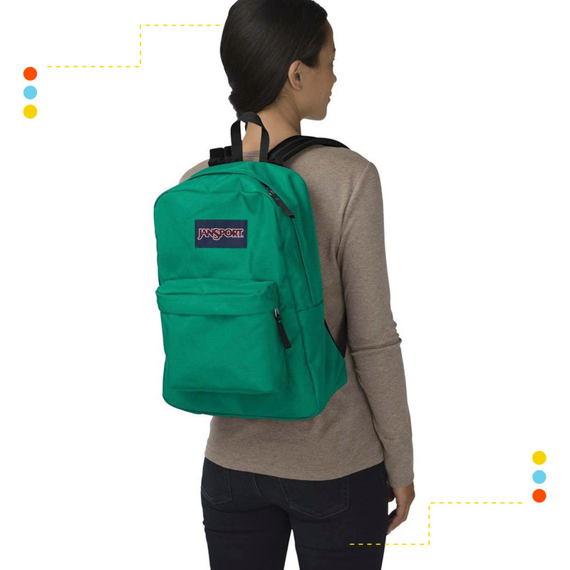Mochila Jansport Superbreak Verde Universidad