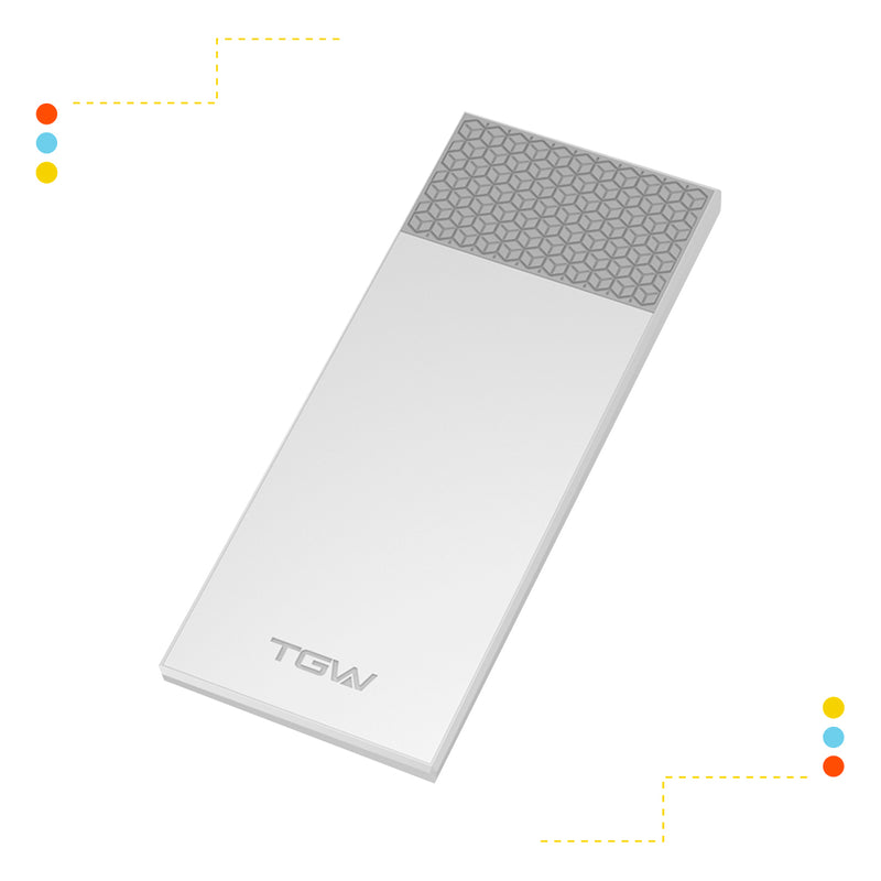 Cargador TGW Power Bank de 2600 mAh Blanco