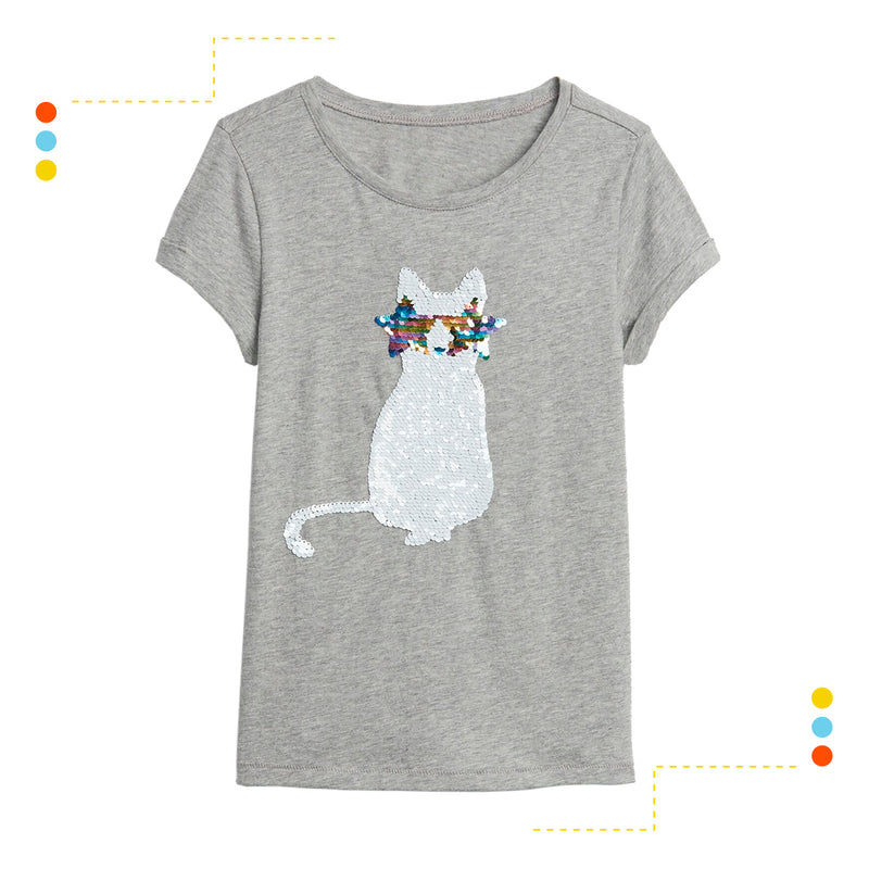 Remera Manga Corta Flippy Cat