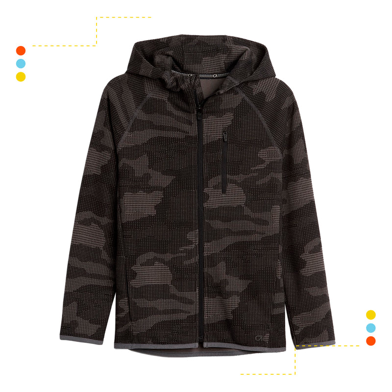 Campera Fit Tech Grey Camo