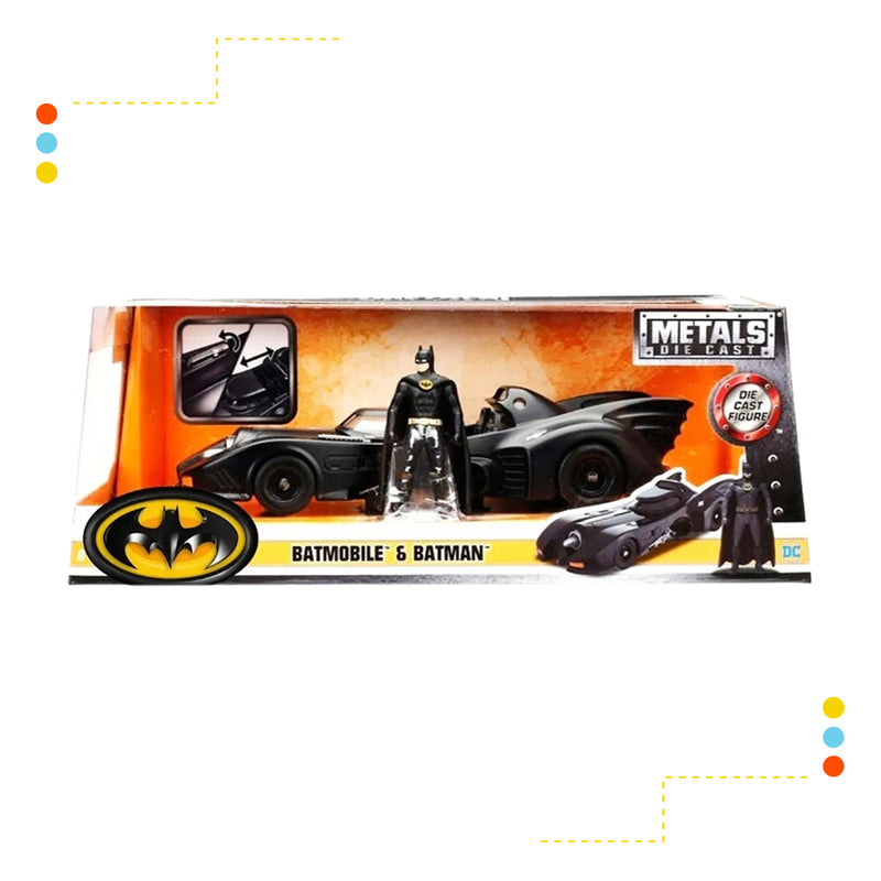 Vehiculo Metals Batimovil 1989 con Batman