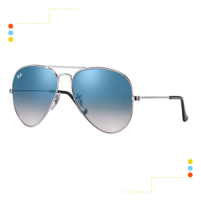 Lentes Ray Ban Aviator Gradient RB3025 003/3F 58-14
