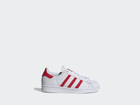 Adidas Superstar J White/Red FY2569