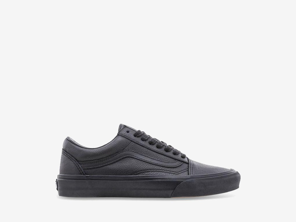 Vans Old Skool (Leather) Black/Black VN-03Z6L3A.BLK