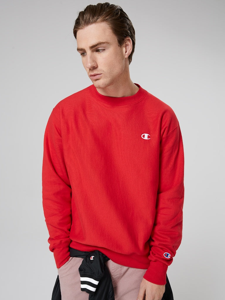Champion Rev Weave Crew Red A1707H