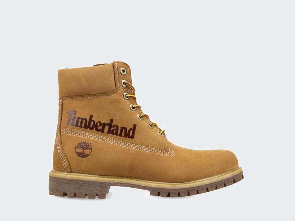 Timberland 6 Inch Prem Boot Side Logo Wheat A1URV