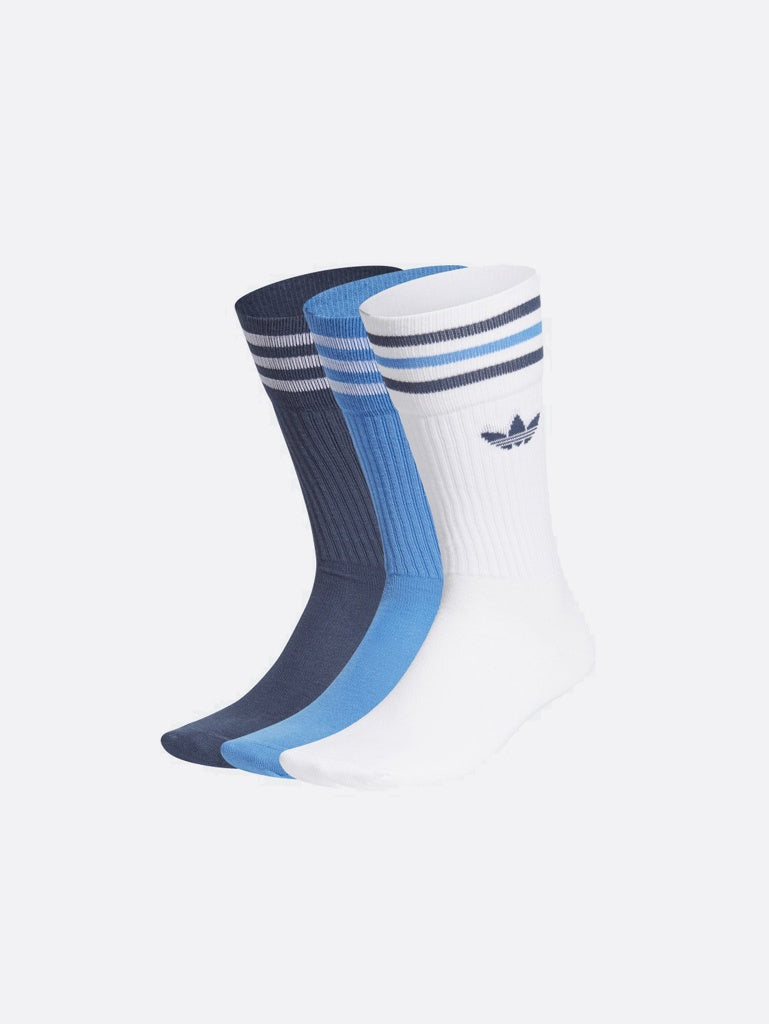 Adidas Solid Crew Sock White/Blue GN3074