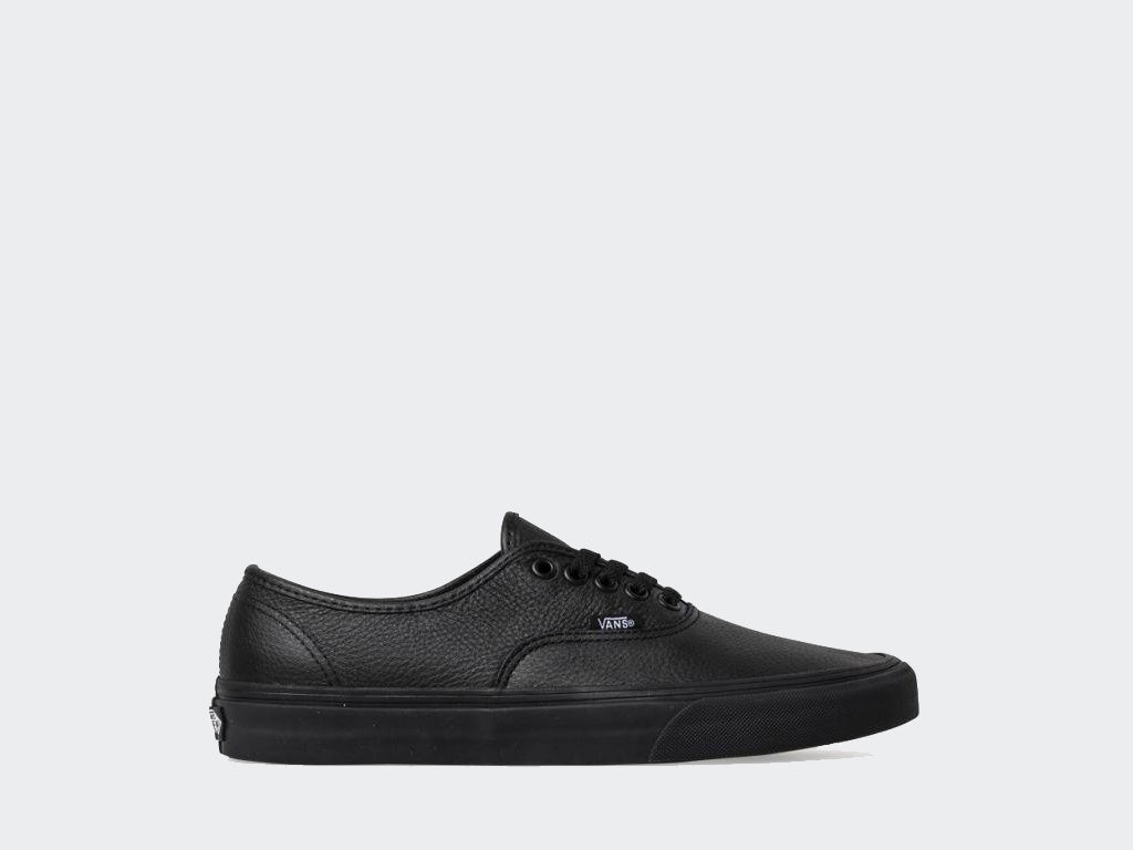 Vans Authentic Black/Black Leather VN00JRAL3B.BLK