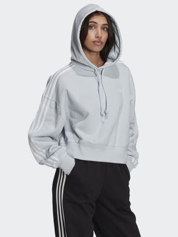 Adidas Classics Crop Hoodie Halo Blue GN2893