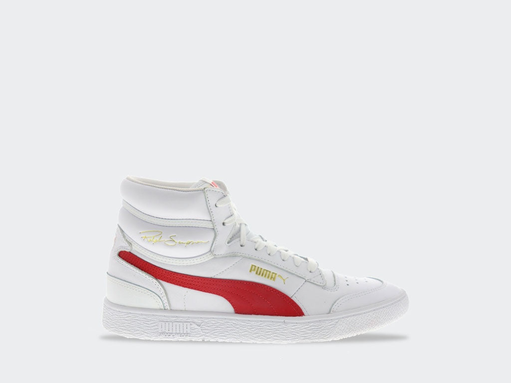 Puma Ralph Sampson Mid White/High Risk Red 37084715