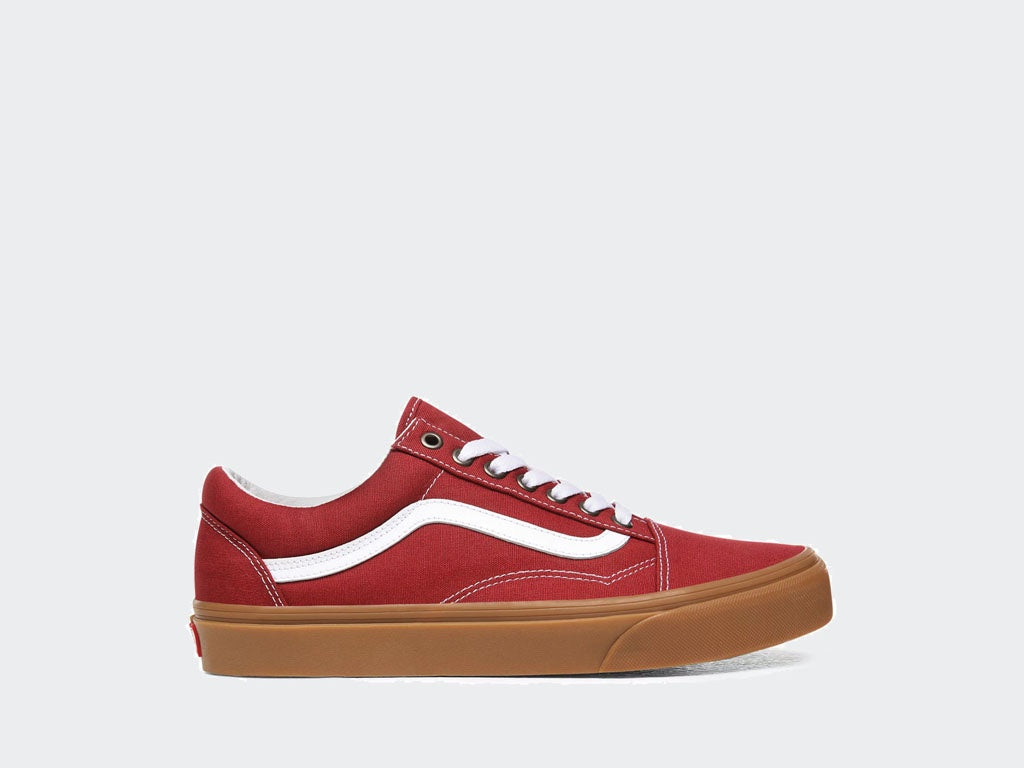 Vans Old Skool Gum Rosewood/White VNA4U3BWZ0.RED