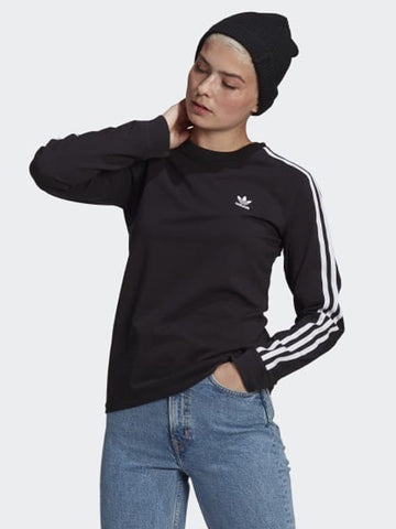 Adidas 3 Stripe Longsleeve Top Black W GN2911