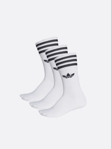 Adidas Solid Crew Sock White/Black S21489