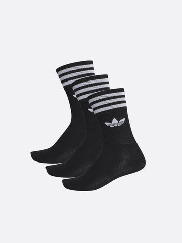 Adidas Solid Crew Sock Black/White S21490