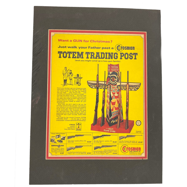 Crosman 1964 Totem Trading Poster from A Boy's Life Magazine (sold by private seller fulfilled by D&L)