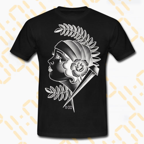 Negative Traditional Gypsy Lady T-Shirt 11am - 7th Circle Store - Men's Clothing - 7th Circle Store