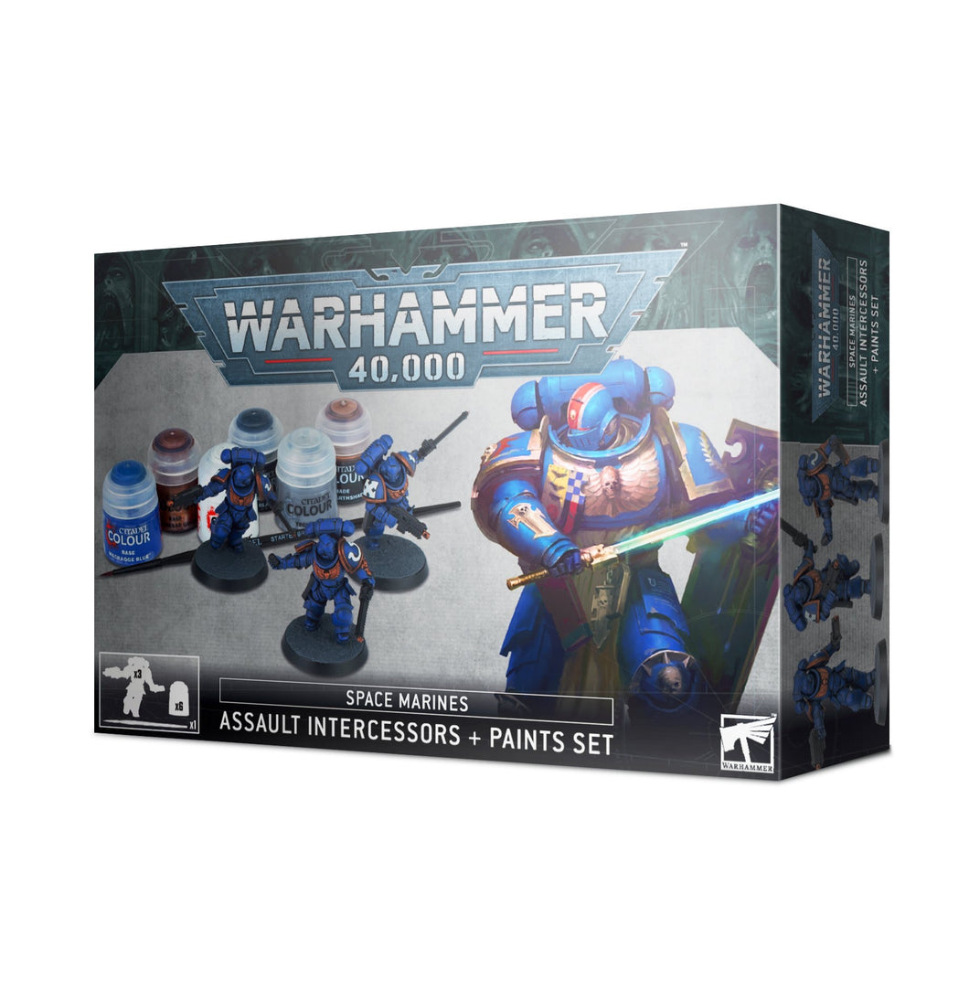 Space Marines Assault Intercessors and Paint Set - 7th Circle Store -  - 7th Circle Store
