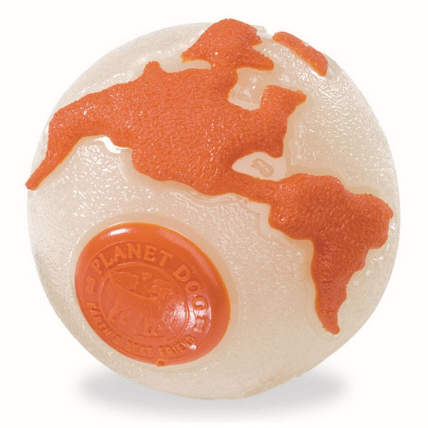 Planet Dog Orbee-Tuff Planet Ball  Glow in the Dark & Orange