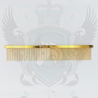 "VINTAGE Limited Edition  7.875"" 22 Carat Gold Plated 1.375"" Comb"