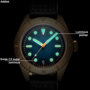 1965 Luxury Bronze Diver Watches Men Mechanical Watch NH35 C3 Luminous Automatic Watch men Sapphire Crystal 200m diver watch Top