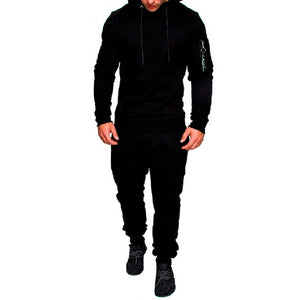 2018 New Camouflage Print Men Sport Set Autumn Trendy Tracksuit long Sleeve Hoodie Sweatshirt Fitness Pants Workout Running Suit