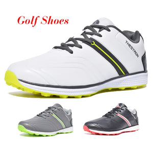 2019 New Men Golf Shoes Waterproof Spikeless/Non-slip Golf Sneakers Lightweight Sport Trainers