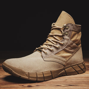 2019 New  Military Men Boots Combat Army Ankle Boots Autumn Winter Outdoor Trekking Shoes Big Size Desert Tactical Shoes for Men