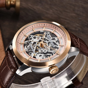 2019 PAGANI DESIGN Brand Fashion Leather Gold Watch Men Automatic Mechanical Skeleton Waterproof Watches Relogio Masculino Box
