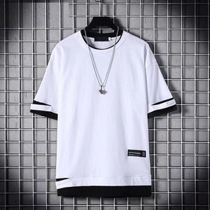 2020 Fashion Men T-shirt Slim Fit Hole T-shirt Men Hip Hop Streetwear O Neck Short Sleeve Fitness T-shirt Tee Shirt Homme