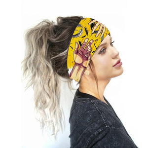 2020 New Boho Printed Sports Headbands Women Wide Turban Girls Hair Head Bands Wrap Accessories Scrunchy Hairband Headdress