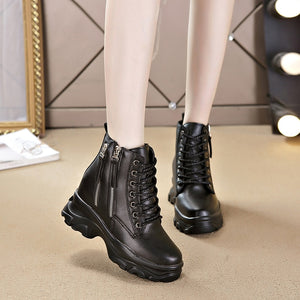 2020 New Casual Women Shoes Winter Hot Genuine Leather Women's Boots Fashion Trend Comfortable Soft Wild Warm Short Tube Boots