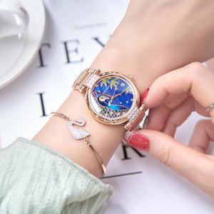2020 Reef Tiger/RT Top Brand Luxury Women Watch Rose Gold Bracelet Automatic Mechanical Shell Watches Clock RGA1587