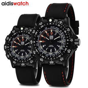 Addies Top Brand Military Watches Men Fahsion Casual Sports watch 50m Waterproof Outdoor Silicone Men's watch Diving Men Luxury