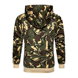 Camo Men Tracksuit Hooded Outerwear Hoodie Set Mens Autumn Winter 2 Pieces Hooded Jacket+Pants Male Casual Tracksuits Sportswear