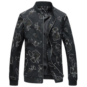 Drop Shipping 2020 New Autumn men floral jackets stand collar bomber jacket and coat S-5XL AXP215
