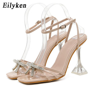 Eilyken New Women shoes Gladiator Sandals Sexy high heels Sandals Summer Party Dress shoes Buckles pumps Big size 42
